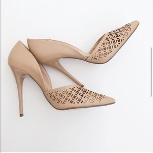 JustFab pointed Nude Heels size 8.5